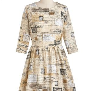 ModCloth Postcard Dress